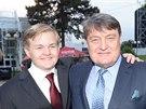 Artur �taidl a jeho otec Ladislav �taidl na premi��e Fantoma opery (13. z��� 2014)