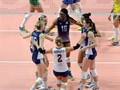 Americké volejbalistky postoupily do finále mistrovství sv�ta.