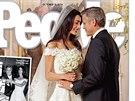 Letos v září mluvil celý svět o tajné svatbě herce George Clooneyho a krásné právničky Amal Alamuddinové. Uzavíraly se sázky, kdo pro nevěstu navrhl šaty; až časopis People z 13. října ukázal, že to byla róba od Oscara de la Renty.