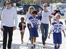 Vito Schnabel s Heidi Klumovou a jejím dětmi