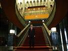 Turecký prezident Recep Tayyip Erdogan v novém paláci v Ankaře (Turecko, 29. října 2014).