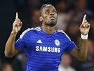 LEGENDA SLAVÍ. Didier Drogba z Chelsea se právě trefil do sítě Mariboru.