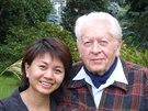 Zdeněk Miler s čínskou režisérkou ZengWeijing během její návštěvy v Česku