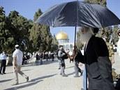 Chrámová hora je jedním z nejposvátnějších místo pro židy i muslimy (30. října 2014)