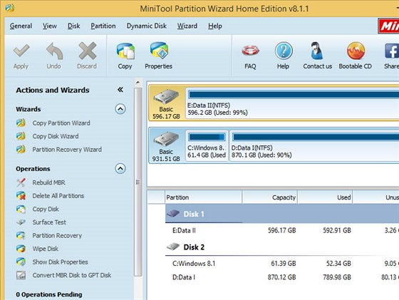 MiniTool Partition Wizard Home