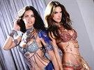 Adriana Lima a Alessandra Ambrosio v podprsenkách Dream Angels Fantasy 2014, z nichž každá má hodnotu dva miliony dolarů.
