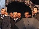 Německý prezident Joachim Gauck při oslavách 25. výročí Sametové revoluce v Praze (17. listopadu 2014)