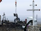 Na v�chod� Ukrajiny za�al pod veden�m nizozemsk�ch expert� odvoz trosek z��cen�ho boeingu malajsijsk�ch aerolinek. (16. 11. 2014)