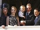 Monacká princezna Caroline, její dcera Alexandra, vnuk Sacha, syn Andrea...