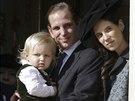 Andrea Casiraghi, jeho syn Sacha a man�elka  Tatiana Santo Domingov� (Monte Carlo, 19. listopadu 2014)