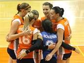 Olomoucké volejbalistky slaví výhru