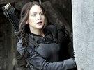 Jennifer Lawrencová ve filmu Hunger Games: Síla vzdoru 1. část