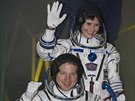 Nová tříčlenná posádka ISS. Samantha Cristoforettiová (ESA), Terry Virts (NASA), Anton Škaplerov (Roskosmos)
