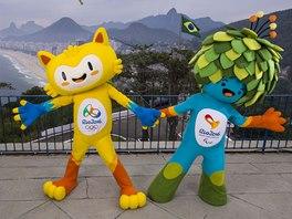 Maskoti olympijských her 2016 v Riu de Janeiro
