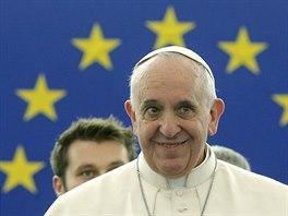 Papež František hovoří v europarlamentu