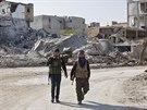 Pe�mergov� v Kobani (19. listopadu 2014).