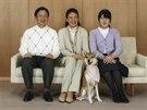 Japonsk� korunn� princ Naruhito, jeho man�elka princezna Masako a jejich dcera princezna Aiko (Tokio, 30. listopadu 2014)