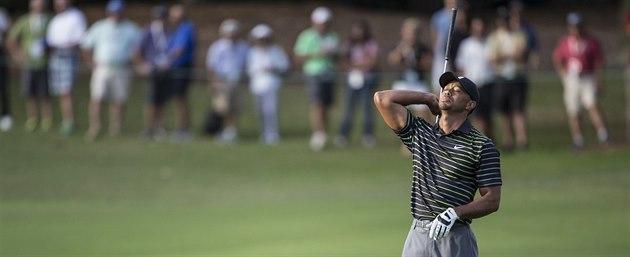 Tiger Woods byl ze svého výkonu frustrovaný.