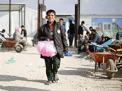 Syrský uprchlický tábor Zátarí v Jordánsku (7. prosince 2014).