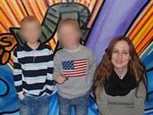 Eva Michaláková se svými dětmi na archivním snímku.