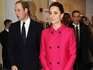 Princ William a jeho těhotná manželka Kate navštívili centrum pro poskytování služeb znevýhodněným mladým lidem The Door (New York, 9. prosince 2014).