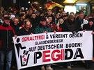 Na demonstraci proti islamizaci Německa se sešlo v Drážďanech 17,5 tisíce lidí.