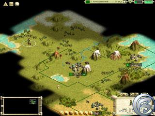 Obrázek z jedné multiplayerové hry se simultánními tahy - nahoře vidíme své vlastní statistiky, počet bodů a čas zbývající do konce tahu.