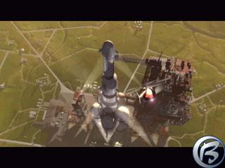 Hurá - podařilo se vyhrát pomocí Space Race, což je doprovázeno nádhernou videosekvencí, z níž pochází tento screenshot.
