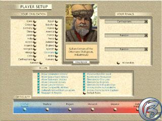 Jako svého favorita pro další hru si vybírám sultána Osmana a jeho civilizaci.
