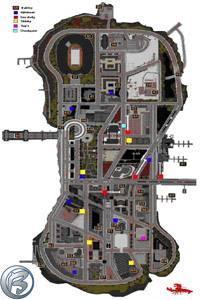 Grand Theft Auto 3 - mapa