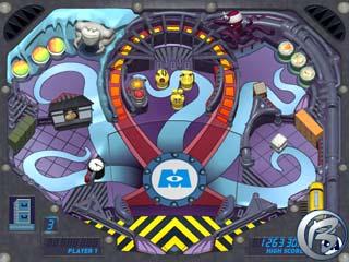 Monsters Inc. Pinball Panic - začátek hry