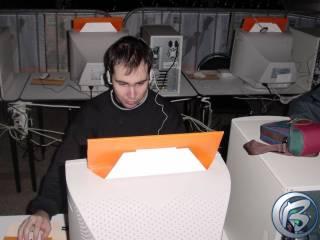 Ufoun Vreco při novinářském turnaji v Quake 3: Arena