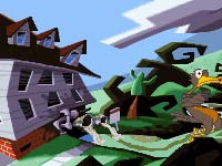 Typická grafika LucasArts - Day of the Tentacle