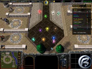 Bludičky-hráči těsně před výběrem těla do deathmatche