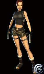 Lara Croft a její poprsí