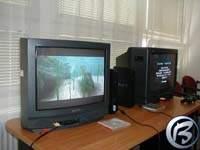 Televize a konzole s delfínem Ecco