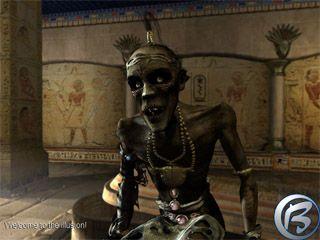 Sympatická mumie Psychopomp, která vás bude provázet egyptskou kapitolou.