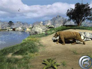 Úžasná příroda v paleolitickém období.