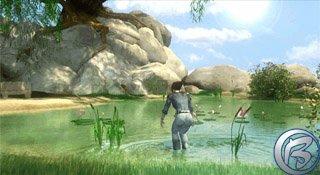 Hlavní hrdinka si jde zaplavat… škoda jen, že si před tím nesundala šaty :o).