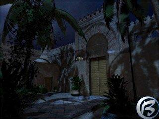 Noční sídlo bagdádského obchodníka, v němž začíná pohádka Tisíce a jedné noci.