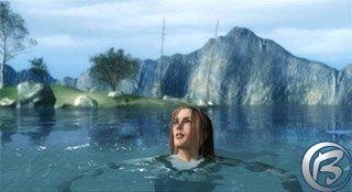 A zde již naše hrdinka plave… bohužel opět v šatech :o(.
