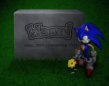 Bleem - náhrobek