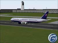 Boeing 767 na startu v Bostonu