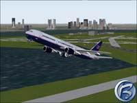 Boeing 767 krátce po startu