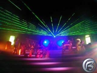 Zelená laserová show