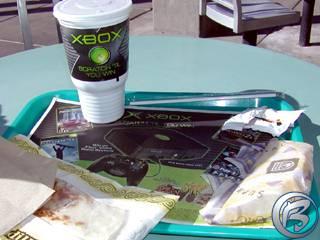 Výherní Xbox menu u Taco Bell