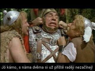 Asterix & Obelix - i mistr tesař se utne.