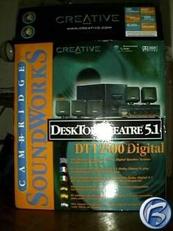 Kartonový obal Cambridge SoundWorks DeskTop Theater 5.1Digital