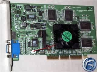 Přední pohled na kartu Creative Blaster Annihilator Geforce GTS