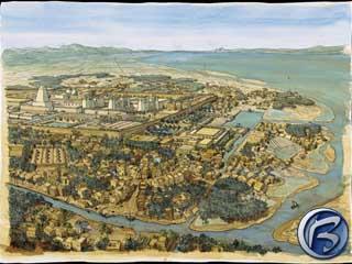 A zde máme město Heliopolis jako na dlani… (mapa města se čtyřmi lokacemi)